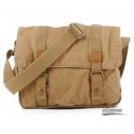 yellow canvas messenger bag