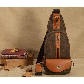 brown 1 strap backpack