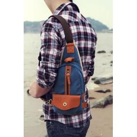 navy 1 strap backpack