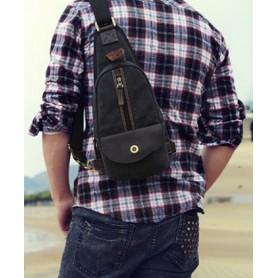 black 1 strap backpack