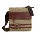 IPAD mens messenger bag canvas, leather canvas messenger bag