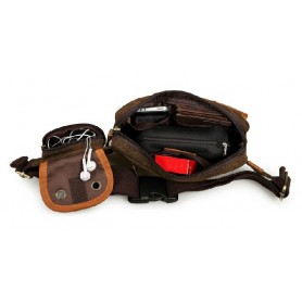 brown fanny pack for men