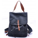 Canvas knapsack, beach backpack, couples motorcycle rucksack, khaki & black