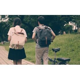 couples motorcycle rucksack, khaki & black