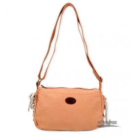 orange small cross-body bag