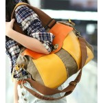 Canvas shoulder bag women, canvas and leather messenger bags