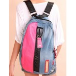 Recycled jean bag, professional 14 inch laptop backpack