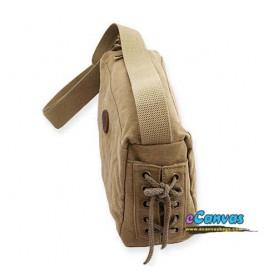 khaki small cross-body bag