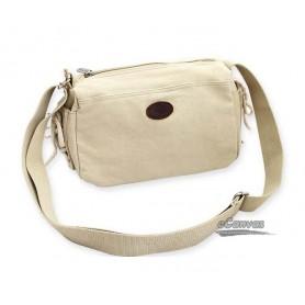 white Canvas purse