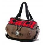 coffee canvas hobo bag