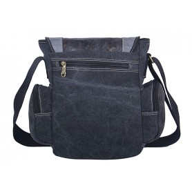 black satchel messenger bag