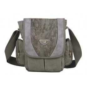army green School messenger bag