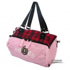 pink canvas hobo bag