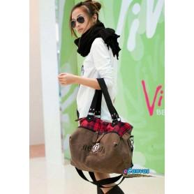 coffee canvas hobo bag for women