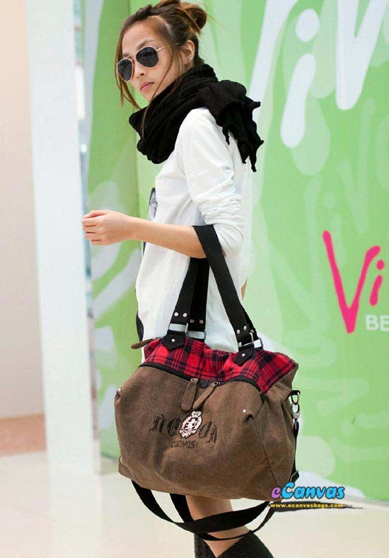 Cool purse, canvas hobo bag, 3 colors - E-CanvasBags