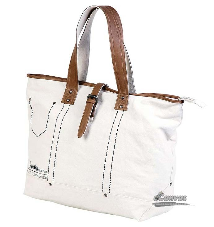 Large canvas utility bag, simple canvas shopping bag, off-white ...