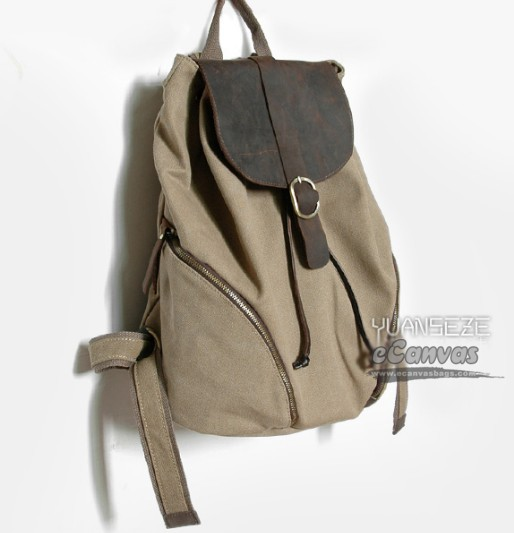 Canvas backpacks for school, canvas backpack purse - E-CanvasBags