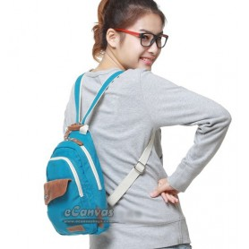 blue Canvas backpacks for college