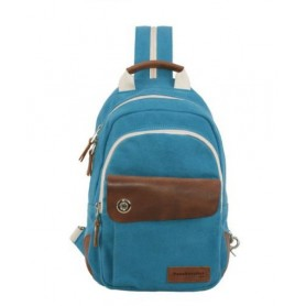 blue small sling backpack