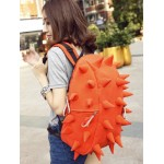 orange Canvas backpack school bag