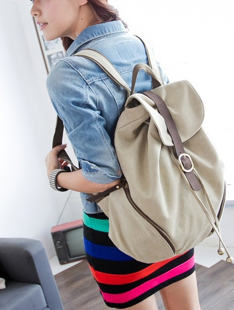 ... blue backpack for school  khaki Canvas backpack purses women ... 1b3e4cee6f9cc