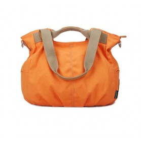 Orange Canvas zipper bag