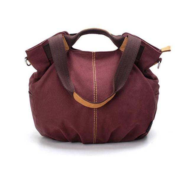 canvas zipper bag shoulder bags stylish handbag blue grey e