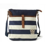 Ipad canvas and leather messenger bag, canvas messenger bag for women