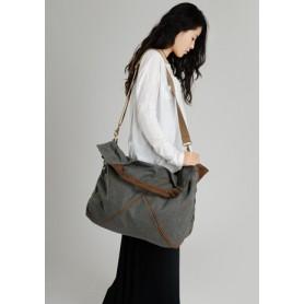 grey Canvas handbags tote