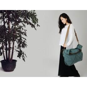 blue Canvas handbags tote