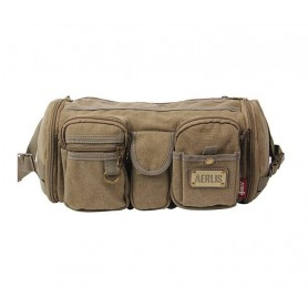 khaki waist hip bag