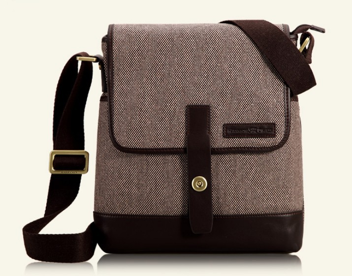 Coffee Ipad Shoulder Bag Purse