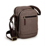 Canvas messenger bag for men, IPAD mens canvas shoulder bag