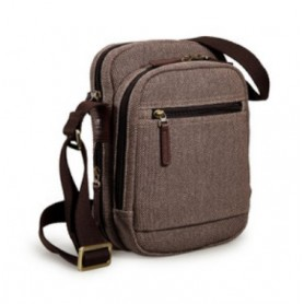 coffee Canvas messenger bag for men