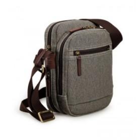 grey IPAD mens canvas shoulder bag