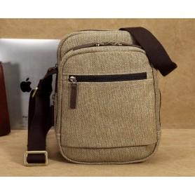 IPAD mens canvas shoulder bag