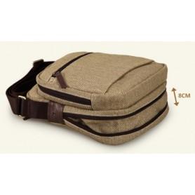 khaki Canvas messenger bag for men