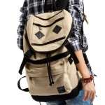Traveling backpacks, cotton canvas rucksack