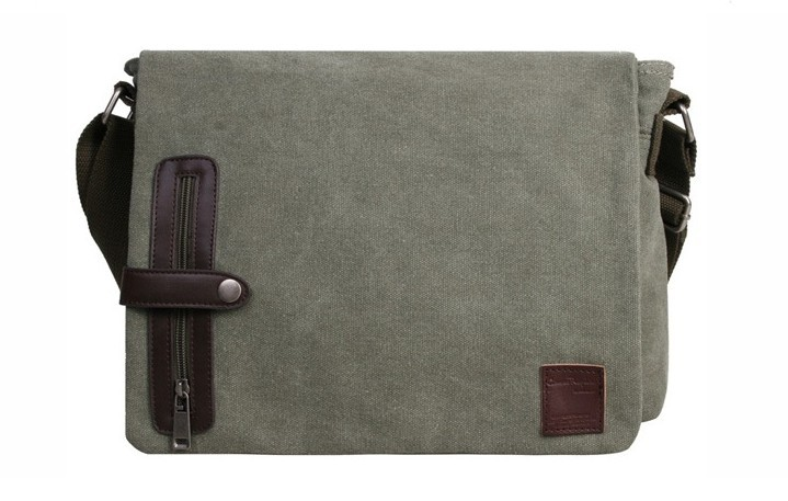 Cotton canvas messenger bags, cool messenger bag - E-CanvasBags