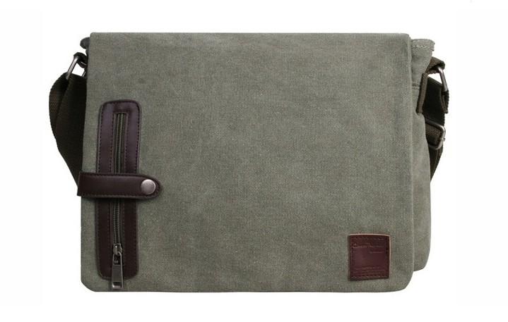Cotton canvas messenger bags, cool messenger bag - E-CanvasBags