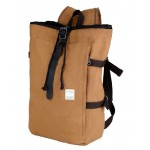 Cotton canvas backpack, vintage canvas rucksack