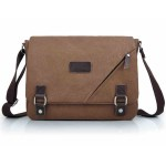 Canvas iPad satchel bag coffee