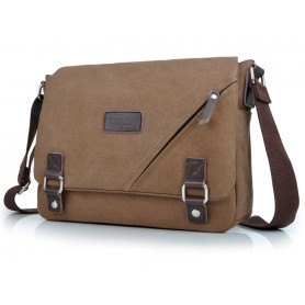 coffee iPhone canvas messenger bag
