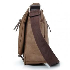 coffee Canvas iPad satchel bag