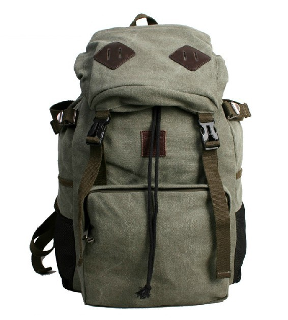 vintage military laptop backpack khaki army green black. Black Bedroom Furniture Sets. Home Design Ideas