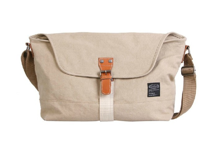Women Messenger Bags Canvas Satchel Bag Apricot