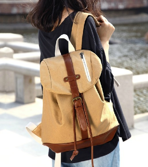 Canvas backpacks for high school, girls canvas rucksack backpack ...