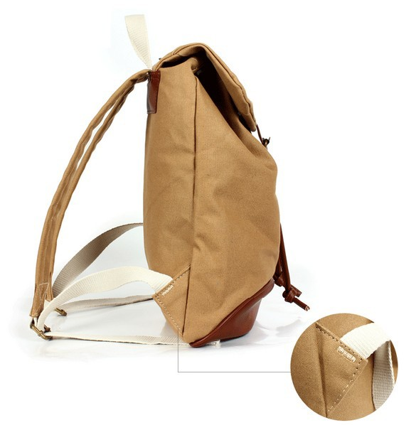 Canvas backpacks for high school, girls canvas rucksack backpack