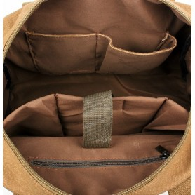 khaki Canvas messenger bags for men