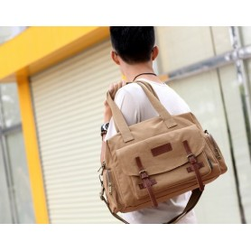 khaki cool messenger bag